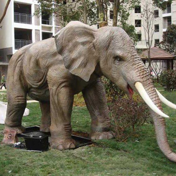 Elephant life like statue