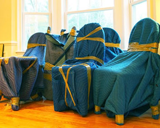 Small Move Experts Wrapped Chair